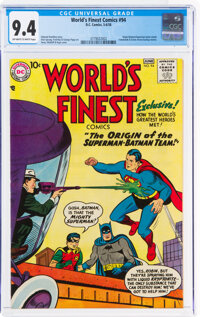 World's Finest Comics #94 (DC, 1958) CGC NM 9.4 Off-white to white pages