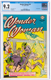 Wonder Woman #59 (DC, 1953) CGC NM- 9.2 Off-white to white pages