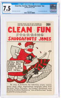 "Clean Fun, Starring ""Shoogafoots Jones"" #nn (Specialty Book Co., 1944) CGC VF- 7.5 Off-white to white pages..."