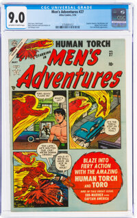 Men's Adventures #27 (Atlas, 1954) CGC VF/NM 9.0 Off-white to white pages