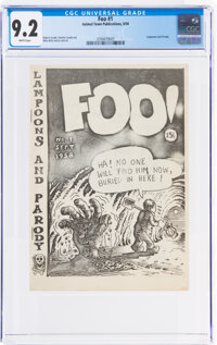 Foo #1 Original Printing (Animal Town Comics, 1958) CGC NM- 9.2 White pages