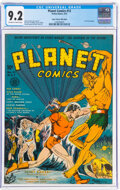 Golden Age (1938-1955):Science Fiction, Planet Comics #12 Mile High Pedigree (Fiction House, 1941) CGC NM- 9.2 Off-white to white pages....