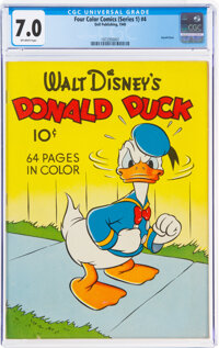 Four Color #4 Donald Duck (Dell, 1940) CGC FN/VF 7.0 Off-white pages