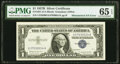 Error Notes:Mismatched Serial Numbers, Mismatched Serial Number Error. Fr. 1621 $1 1957B Silver Certificate. PMG Gem Uncirculated 65 EPQ.. ...