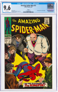 The Amazing Spider-Man #51 Curator Pedigree (Marvel, 1967) CGC NM+ 9.6 White pages