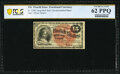 Fr. 1268 15¢ Fourth Issue PCGS Banknote Uncirculated 62 PPQ