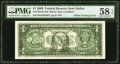 Partial Back to Face Offset Printing Error Fr. 1934-K $1 2009 Federal Reserve Note. PMG Choice About Unc 58 EPQ