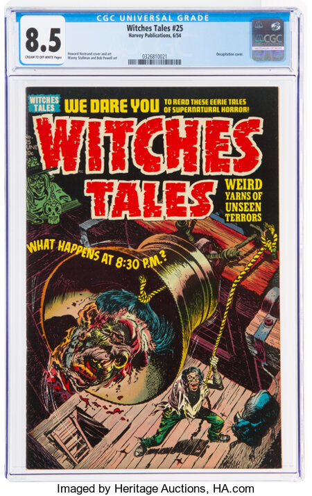 Witches Tales #25 (Harvey, 1954) CGC VF+ 8.5 Cream to off-white pages....