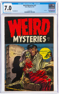 Weird Mysteries #12 (Gillmor, 1954) CGC FN/VF 7.0 Cream to off-white pages