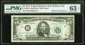 Back to Front Offset Printing Error. Fr. 1973-J $5 1974 Federal Reserve Note. PMG Choice Uncirculated 63 EPQ
