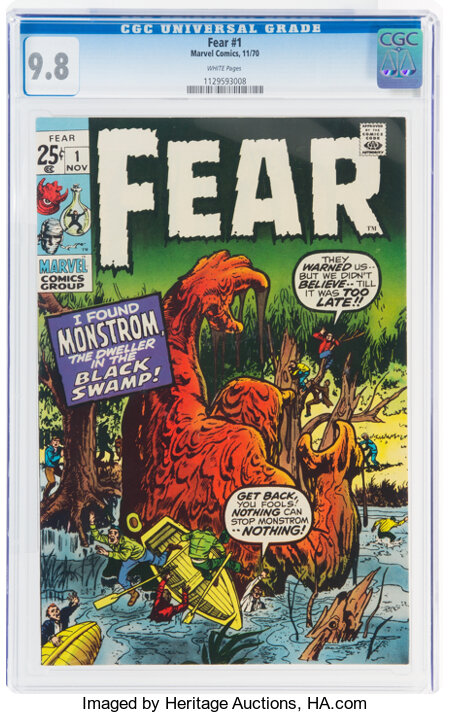 Fear #1 (Marvel, 1970) CGC NM/MT 9.8 White pages....