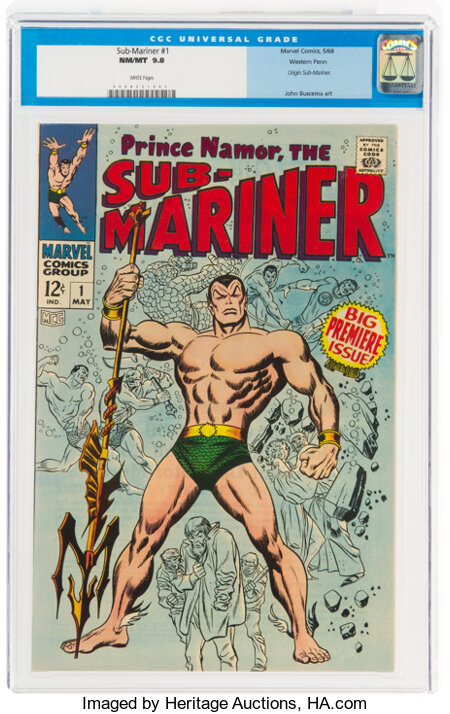 The Sub-Mariner #1 Western Penn Pedigree (Marvel, 1968) CGC NM/MT 9.8 White pages....