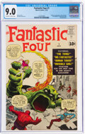 Silver Age (1956-1969):Superhero, Fantastic Four #1 (Marvel, 1961) CGC VF/NM 9.0 Off-white to white pages....