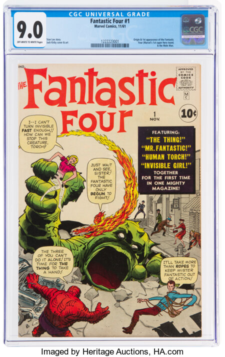 Fantastic Four #1 (Marvel, 1961) CGC VF/NM 9.0 Off-white to white pages....