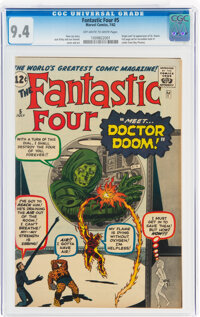 Fantastic Four #5 (Marvel, 1962) CGC NM 9.4 Off-white to white pages