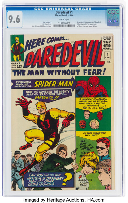 Daredevil #1 (Marvel, 1964) CGC NM+ 9.6 White pages....