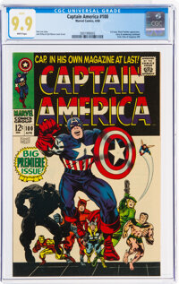 Captain America #100 (Marvel, 1968) CGC MT 9.9 White pages