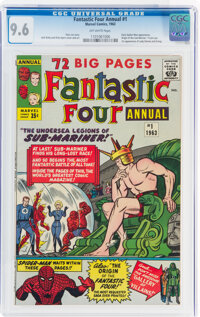 Fantastic Four Annual #1 (Marvel, 1963) CGC NM+ 9.6 Off-white pages