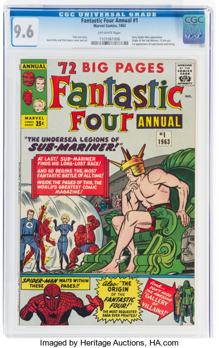 Fantastic Four Annual #1 (Marvel, 1963) CGC NM+ 9.6 Off-white pages....