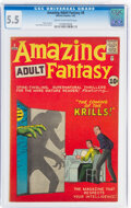 Silver Age (1956-1969):Science Fiction, Amazing Adult Fantasy #8 (Marvel, 1962) CGC FN- 5.5 Cream to off-white pages....