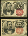 Fr. 1266 10¢ Fifth Issue Two Examples. Very Fine. ... (Total: 2 notes)