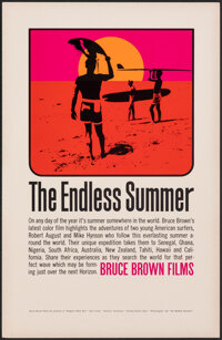 """The Endless Summer (Bruce Brown Films, 1965). Rolled, Very Fine/Near Mint. Special Poster (11"""" X 17"""") John Van..."""