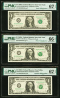 Radar 52266225 Fr. 1915-B $1 1988A Federal Reserve Note. PMG Superb Gem Unc 67 EPQ; Radar 53533535 Fr. 1915-B $1 1988A F...