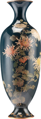 A Japanese Cloisonné Vase, early 20th century 23-3/4 x 8 inches (60.3 x 20.3 cm)