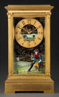 Clocks & Mechanical, A French Bronze and Enamel Mantel Clock, late 19th century. Marks: BR, 73910, JAPY FRERES & Cie Goc MED. HONN., (medal o...