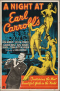 """Movie Posters:Musical, A Night at Earl Carroll's (Paramount, 1940). Folded, Fine+. One Sheet (27"""" X 41""""). Musical.. ..."""