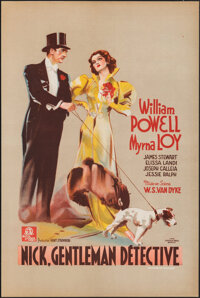 "After the Thin Man (MGM, 1937). Rolled, Very Fine+. Pre-War Belgian (15.75"" X 23.25""). Belgian Title: Nick, Ge..."