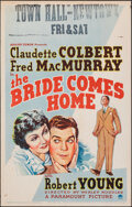 """Movie Posters:Comedy, The Bride Comes Home (Paramount, 1935). Very Fine. Window Card (14"""" X 22""""). Comedy.. ..."""