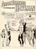 Original Comic Art:Splash Pages, Carmine Infantino and Murphy Anderson Mystery in Space #90 Splash Page 1 Original Art (DC, 1964)....