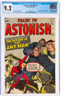 Silver Age (1956-1969):Superhero, Tales to Astonish #35 (Marvel, 1962) CGC NM- 9.2 Off-white to white pages....