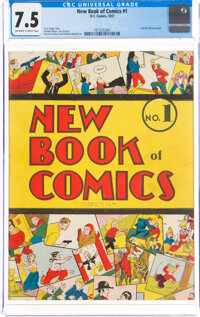 New Book of Comics #1 (DC, 1937) CGC VF- 7.5 Off-white to white pages