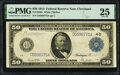 Large Size:Federal Reserve Notes, Fr. 1039b $50 1914 Federal Reserve Note PMG Very Fine 25.. ...