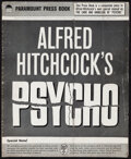 """Movie Posters:Hitchcock, Psycho (Paramount, 1960). Very Fine-. Uncut Pressbook (31 Pages, 12.25"""" X 15""""). Hitchcock.. ..."""