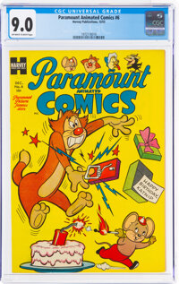Paramount Animated Comics #6 (Harvey, 1953) CGC VF/NM 9.0 Off-white to white pages
