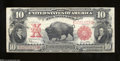 Fr. 122 $10 1901 Legal Tender Note Very Fine. The bison, Pablo, stares down the viewer of this original and problem-free...
