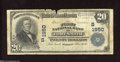 Fort Smith, AR - $20 1902 Plain Back Fr. 654 First National Bank Ch. #(S) 1950 Only the top edge shows undue wear with...