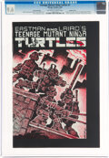 Modern Age (1980-Present):Alternative/Underground, Teenage Mutant Ninja Turtles #1 Second Printing - Double Cover (Mirage Studios, 1984) CGC NM+ 9.6 Off-white to white pages....