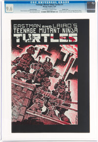 Teenage Mutant Ninja Turtles #1 Second Printing - Double Cover (Mirage Studios, 1984) CGC NM+ 9.6 Slightly brittle pages...