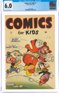 Golden Age (1938-1955):Funny Animal, Comics for Kids #1 (Timely, 1945) CGC FN 6.0 Off-white pages....