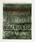 Prints & Multiples, Bruce Nauman (b. 1941). Suposter, 1972. Lithograph and screenprint in colors on Arjomari paper. 36-1/8 x 29-3/4 inches (...