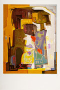 Prints & Multiples, Angel Botello (1913-1986). La Familia, late 20th century. Lithograph in colors on Arches paper. 37-3/4 x 25-1/2 inches (...
