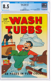 Four Color #11 Wash Tubbs - File Copy (Dell, 1942) CGC VF+ 8.5 Cream to off-white pages