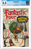 Silver Age (1956-1969):Superhero, Fantastic Four #5 (Marvel, 1962) CGC FN- 5.5 White pages....