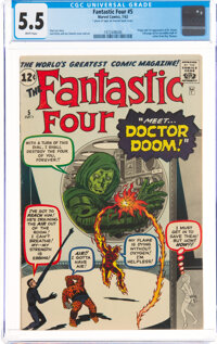 Fantastic Four #5 (Marvel, 1962) CGC FN- 5.5 White pages