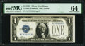 Fr. 1600 $1 1928 Silver Certificate. PMG Choice Uncirculated 64