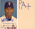 Football Collectibles:Others, 2001 Pat Mahomes Sr & Jr. Signed Postcard - Signed by Patrick Mahomes as a 6 Year Old with Video Proof!...